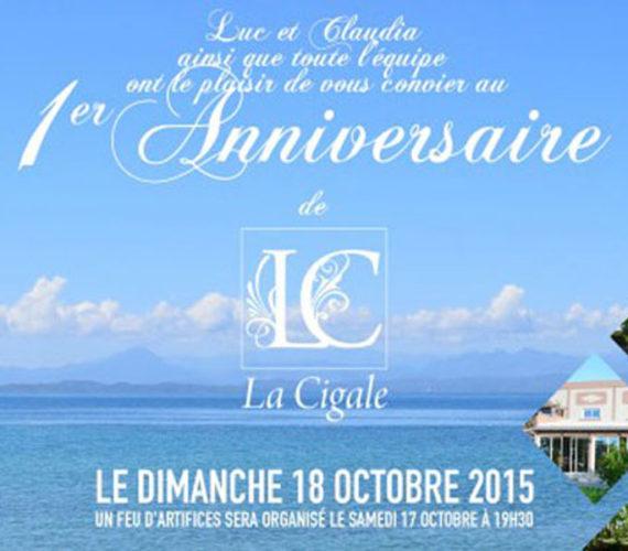 Réservez pour fêter avec nous notre 1er anniversaire le 17 et 18 octobre prochain 2015