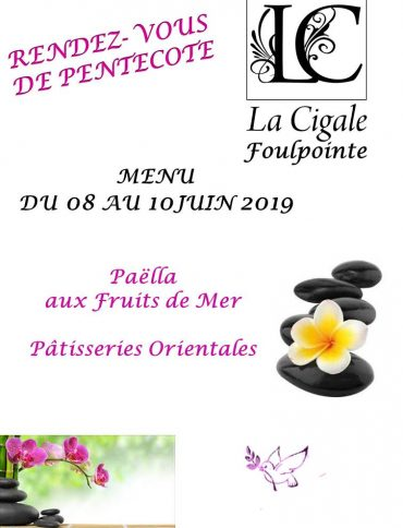 menu pentecote 2019
